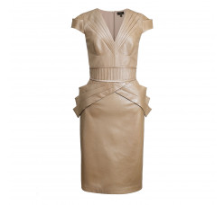 Branded  stitching leather dress