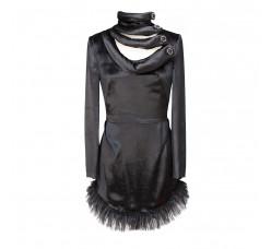 Black velvet minidress