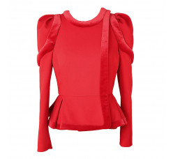Red jacket with fasteners supat and pepl