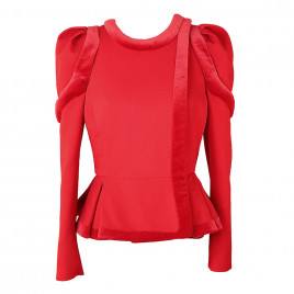 Red jacket with fast..