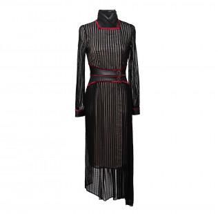 Oriental collar dress small - 1
