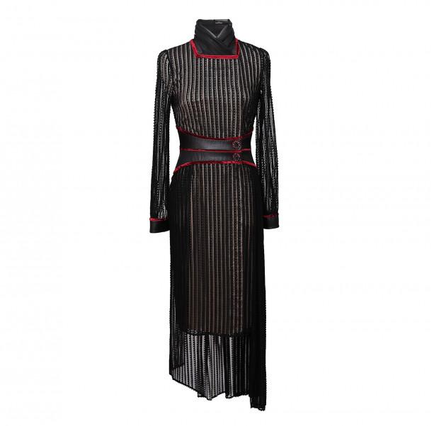 Oriental collar dress - 1
