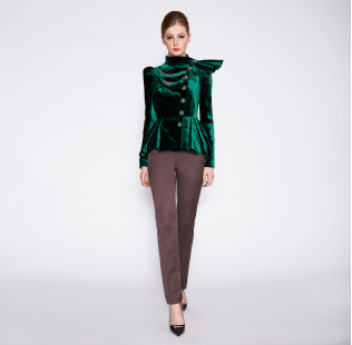 Velour evening jacket with bow small - 2