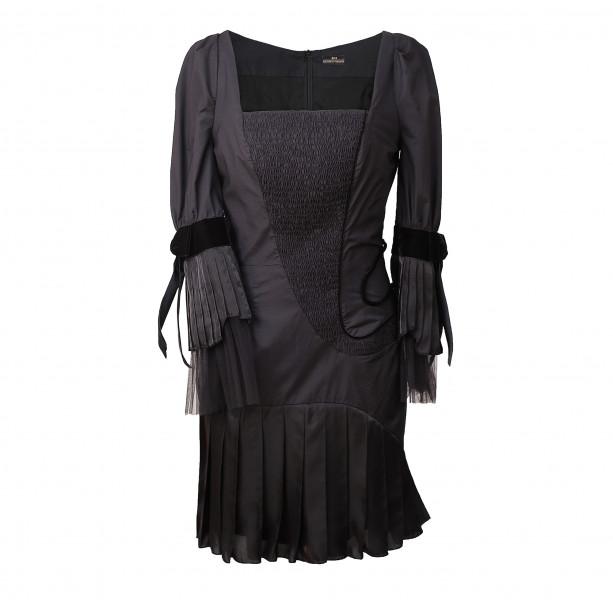 Square neck cotton dress  - 1