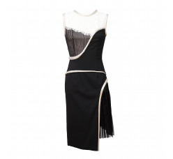 Black white dress with Art nouveau motiv