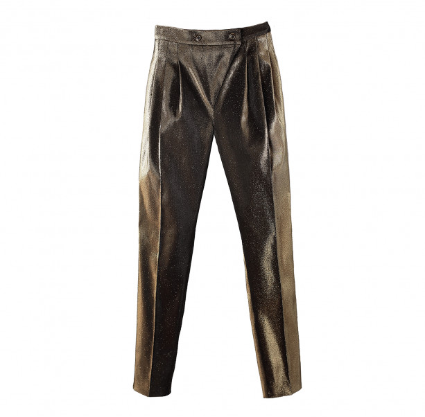 Black gold Pyramid pants  - 1