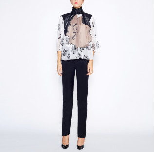 Blouse black pearl small - 5