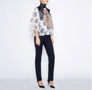 Blouse black pearl small - 4