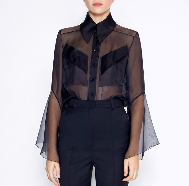 Blouse flared sleeves - 2