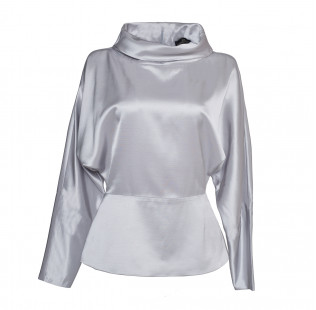 blouse high soft collar small - 1