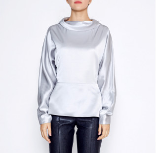 blouse high soft collar small - 2