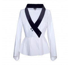 Blouse velvet collar