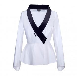 Blouse velvet collar  small - 1