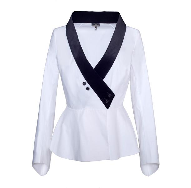 Blouse velvet collar  - 1