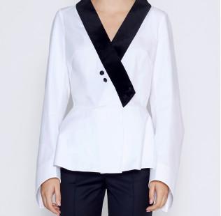 Blouse velvet collar  small - 2