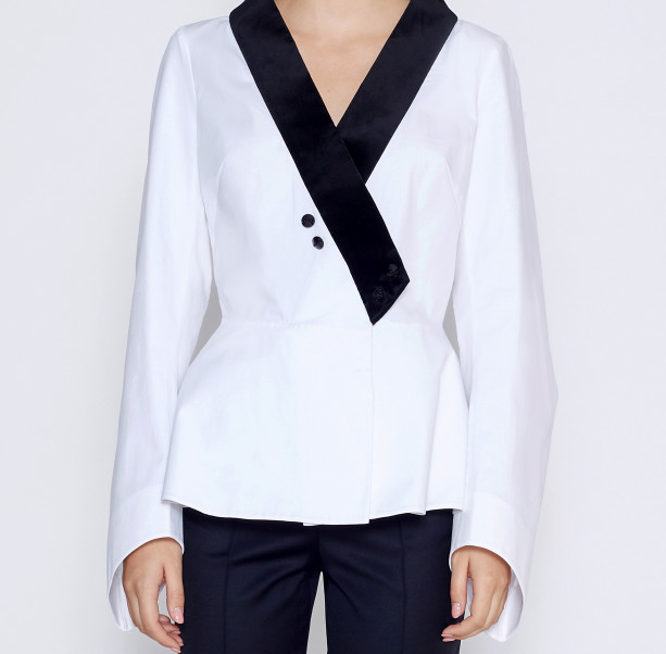 Blouse velvet collar  - 2