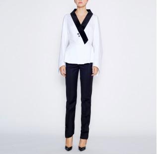 Blouse velvet collar  small - 5