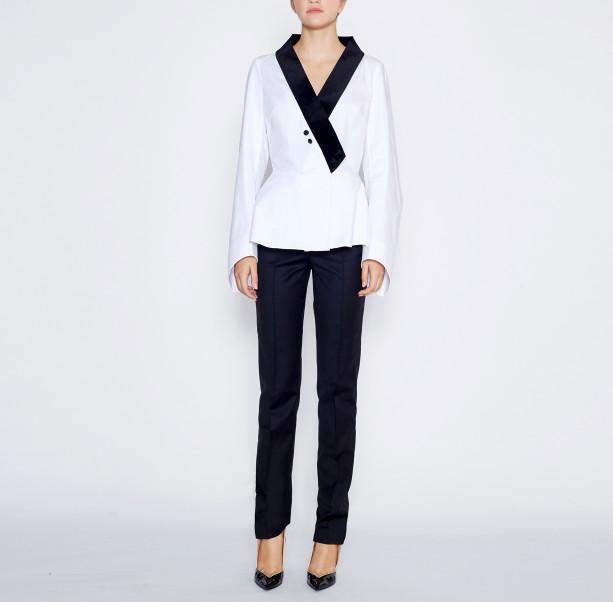Blouse velvet collar  - 5