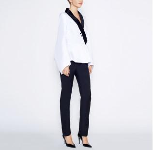 Blouse velvet collar  small - 4
