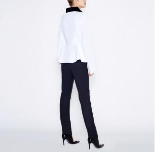 Blouse velvet collar  small - 3