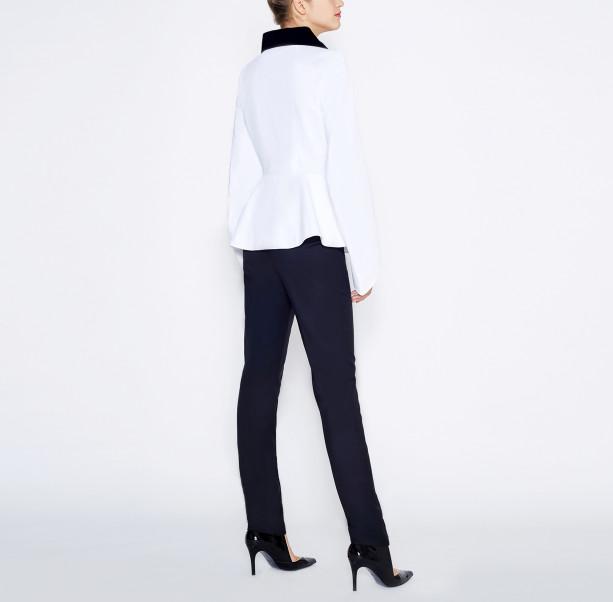 Blouse velvet collar  - 3