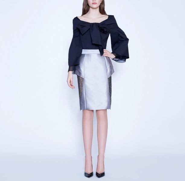 Bow silk cotton blouse  - 5