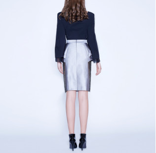 Bow silk cotton blouse  small - 3