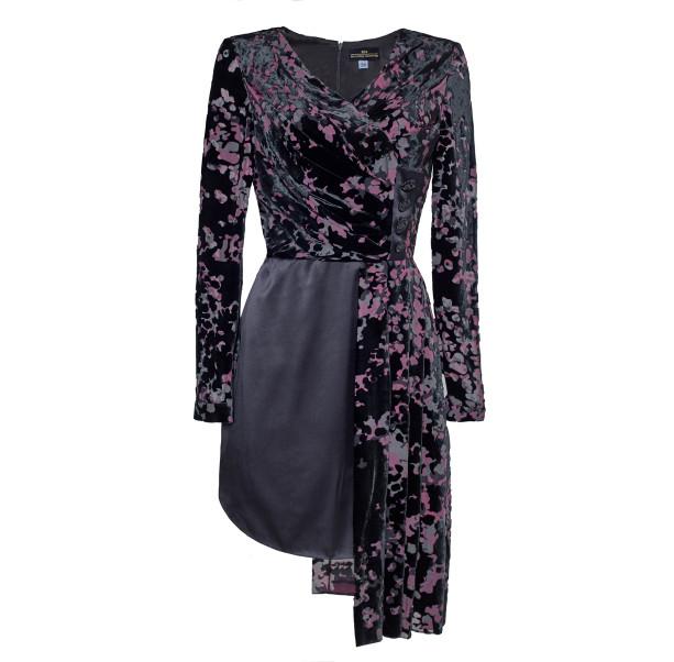 Asymmetrical black dress - 1