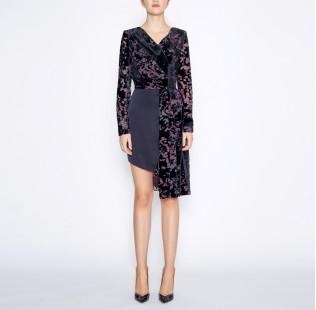 Asymmetrical black dress small - 6