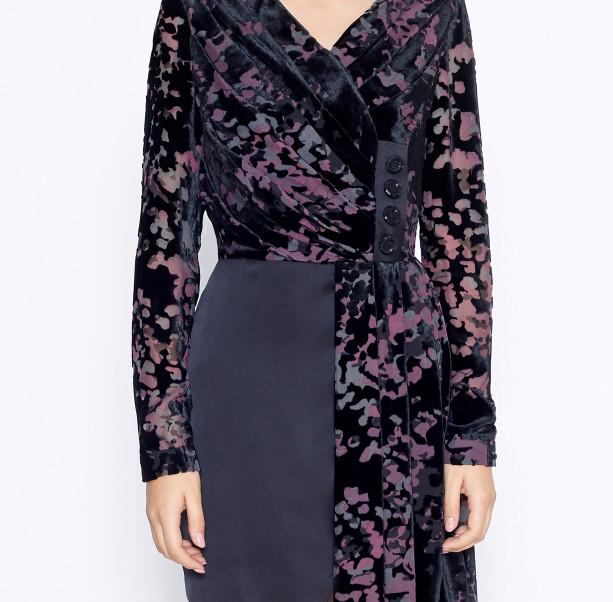 Asymmetrical black dress - 2