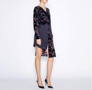 Asymmetrical black dress small - 5