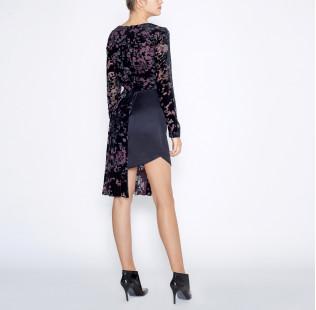 Asymmetrical black dress small - 4