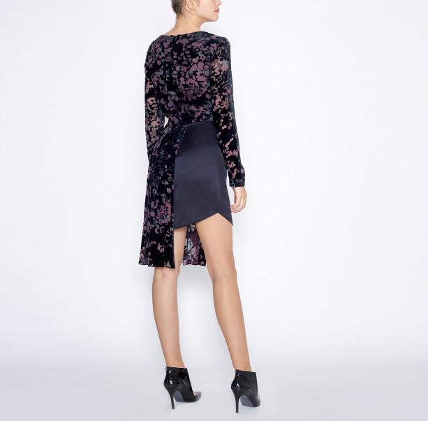 Asymmetrical black dress - 4