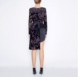 Asymmetrical black dress small - 3