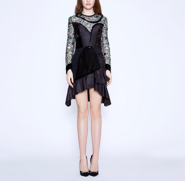 Floral sequins dress - 6
