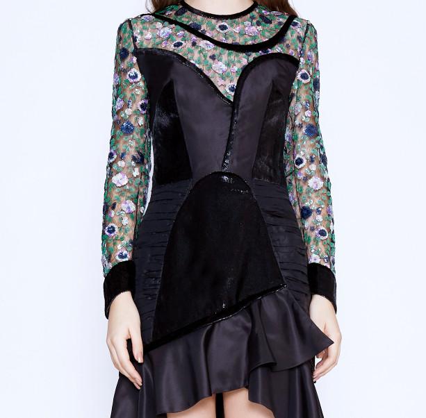 Floral sequins dress - 2