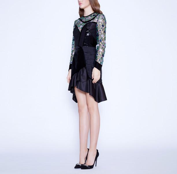 Floral sequins dress - 4