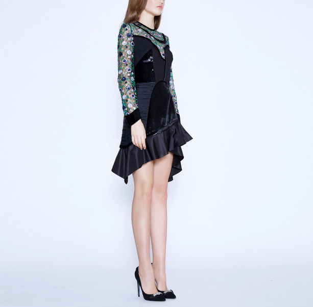 Floral sequins dress - 5