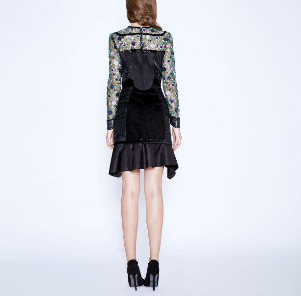 Floral sequins dress - 3