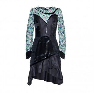 Floral sequins dress small - 1