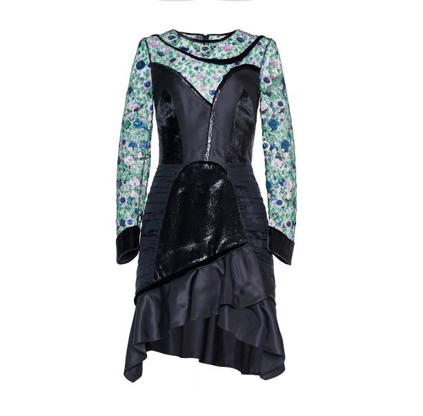 Floral sequins dress - 1
