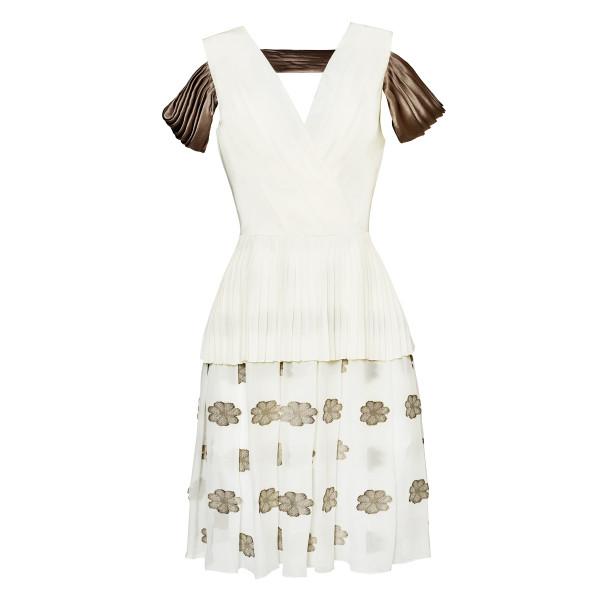 White pleated dress - 1