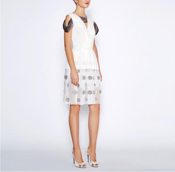 White pleated dress - 5