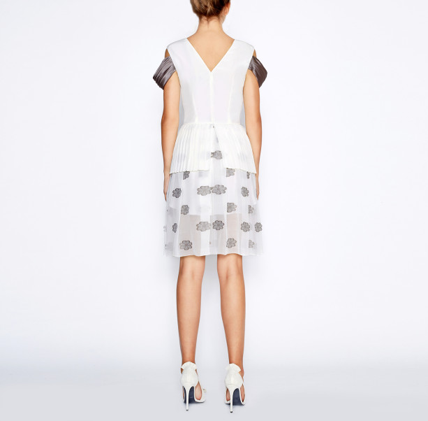 White pleated dress - 3