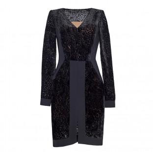 Dress silk devore small - 1