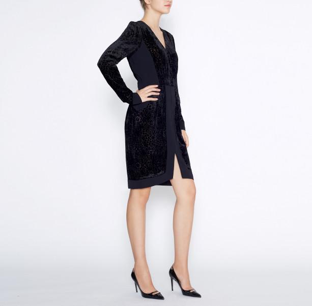 Dress silk devore - 4
