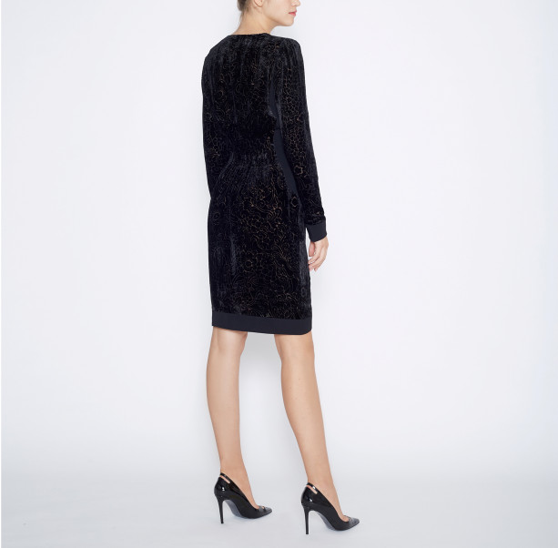 Dress silk devore - 3