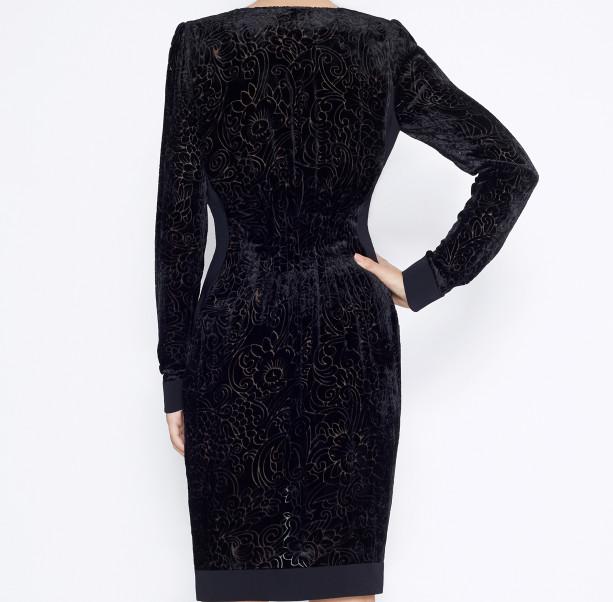 Dress silk devore - 2