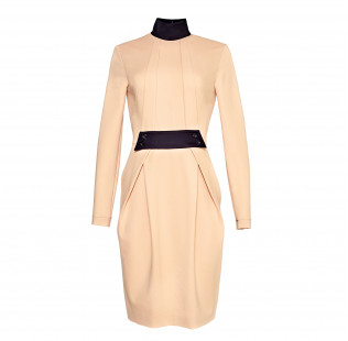 Dress with black collar small - 1