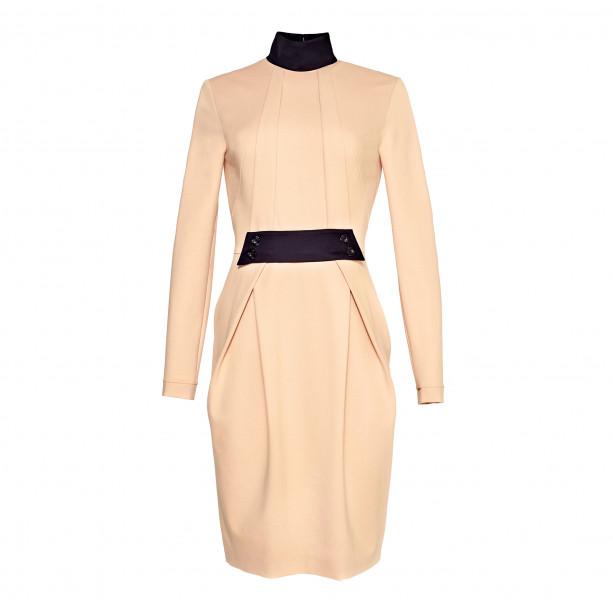 Dress with black collar - 1